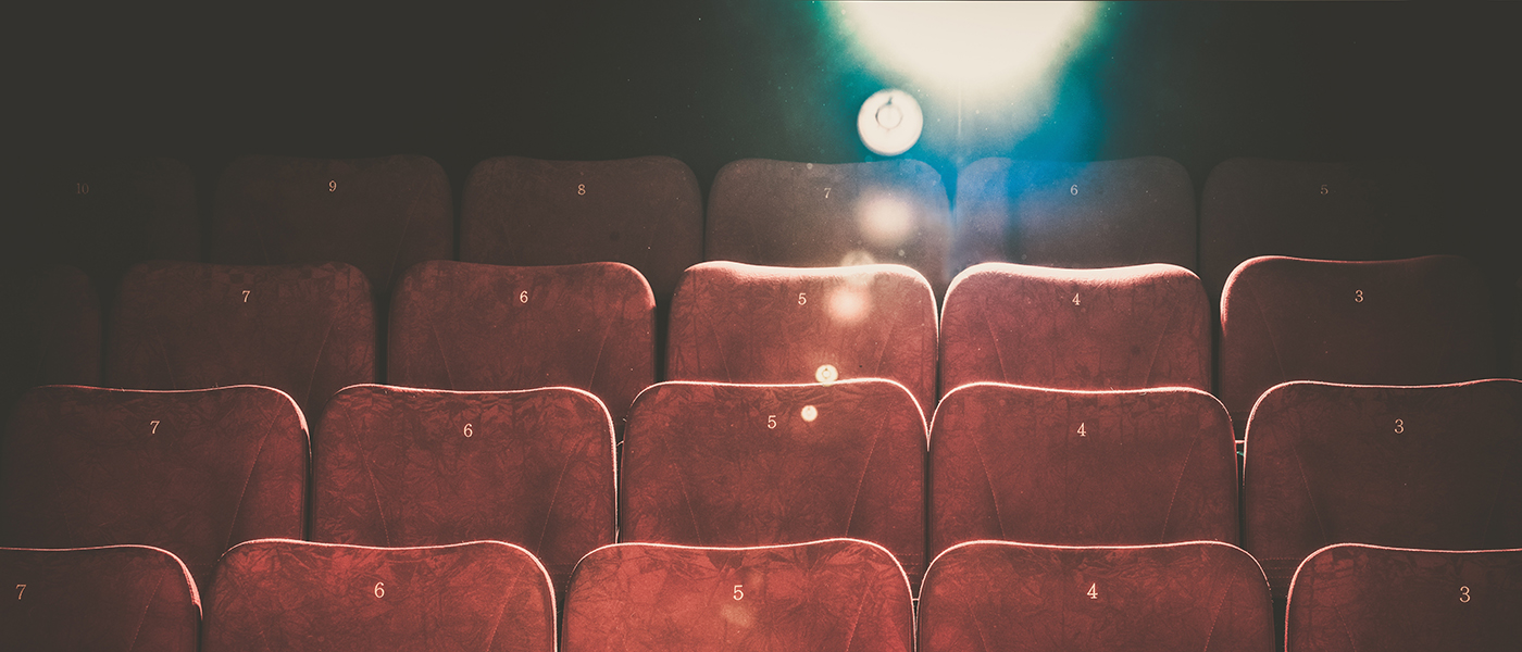 Image of seats and projector in cinema