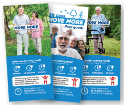 Graphic of Sit Less Move More flyer