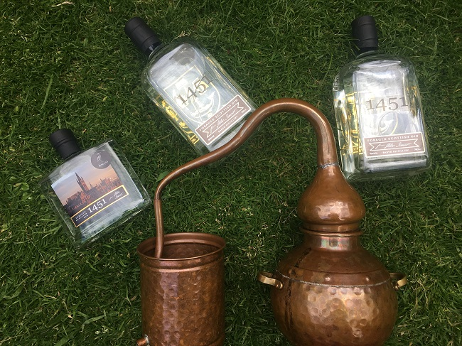 Helen Stewart from Badvo Distillery near Pitlochry has worked with the University of Glasgow to create an exclusive branded version of her gin for them which is called 1451 – after the year the institution was founded.