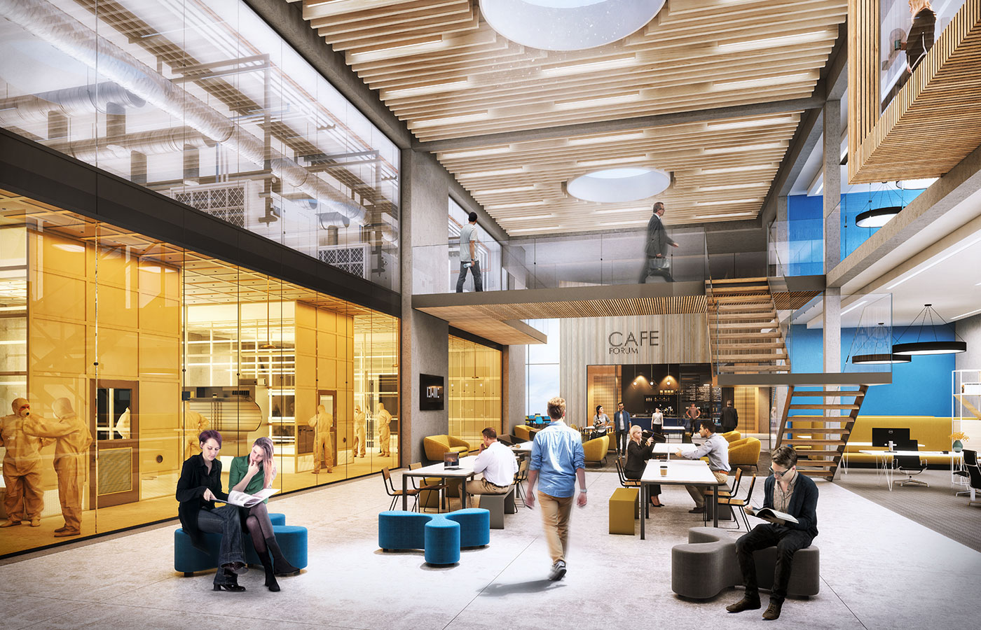 Clyde Waterfront Innovation Campus interior artist impression