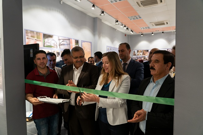 A photo of Dr Claudia Glatz of the University of Glasgow opening new museum space in Iraq