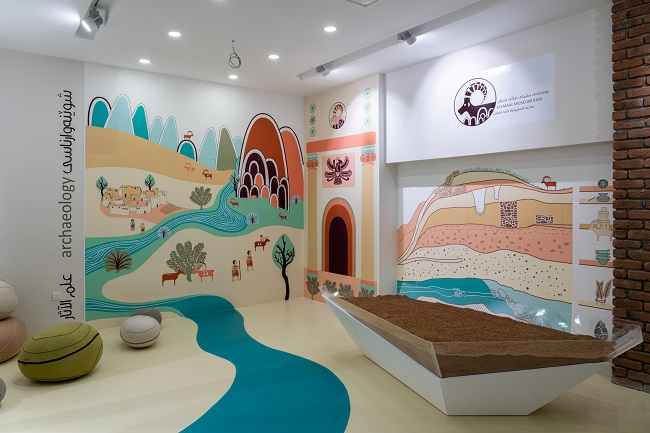 A image of the Iraqi  Slemani Museum children's area created in conjunction with archaeologists from the University of Glasgow.
