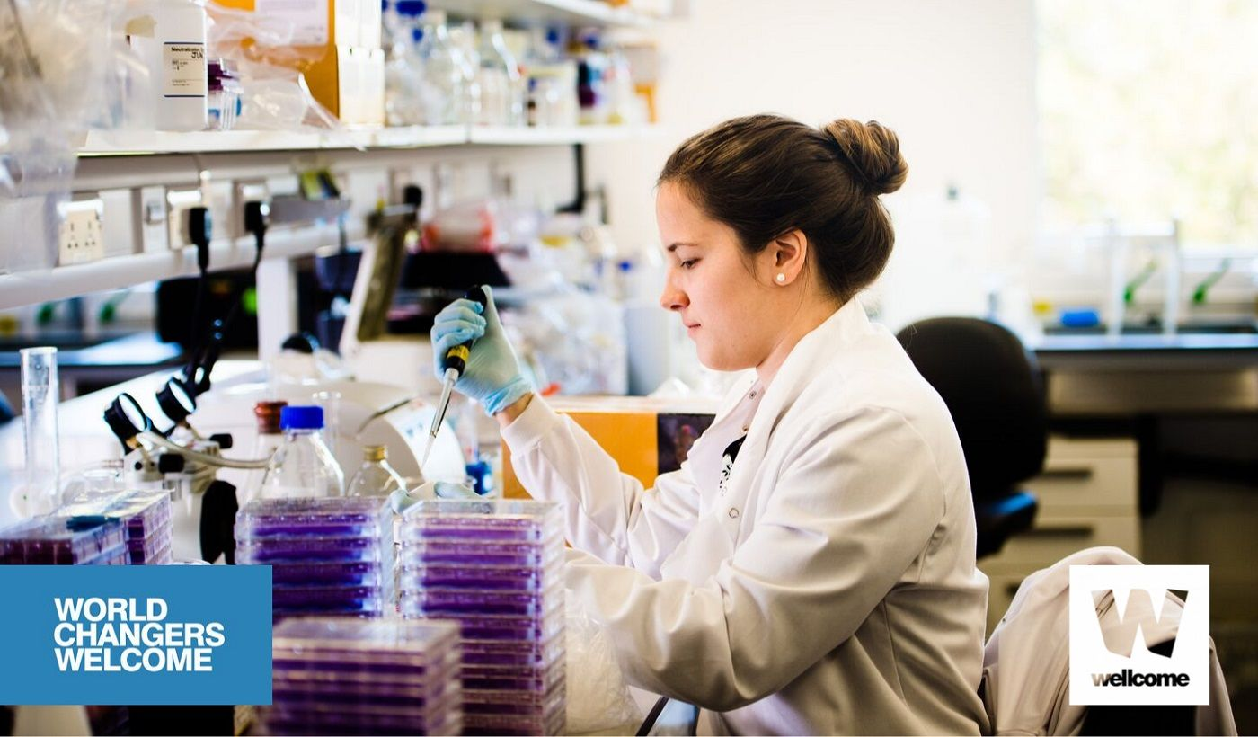 Female student in a laboratory, Wellcome Trust PhD Programme, University of Glasgow