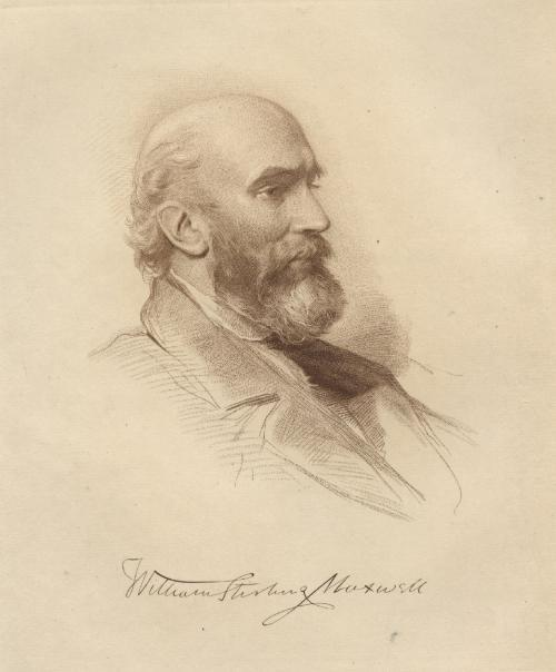 Fig. 1 Sir William Stirling Maxwell. Frontispiece portrait in The Works of Sir William Stirling Maxwell, Baronet (London: John Nimmo, 1891), I. Engraving by Robert Bowyer Parkes from a drawing by George Richmond.