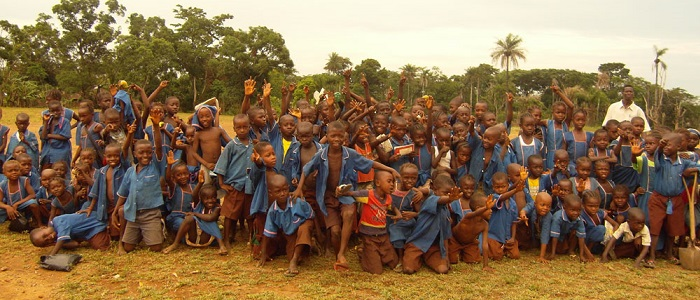 A group of children from Sierra Leone