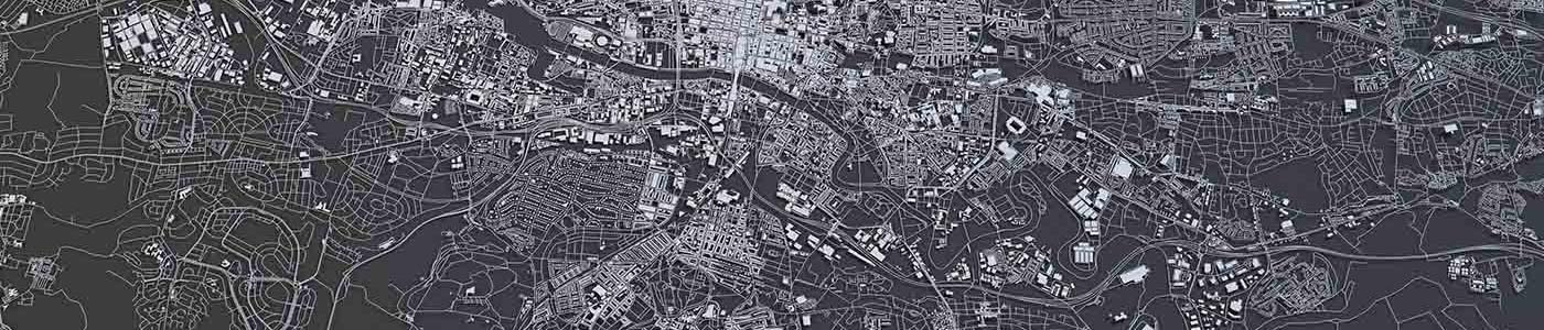 graphic map of the city of Glasgow