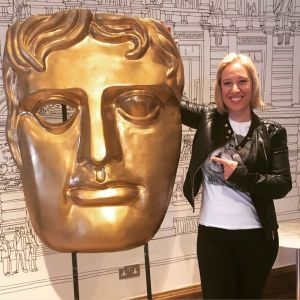 Bev Lyons at the Baftas