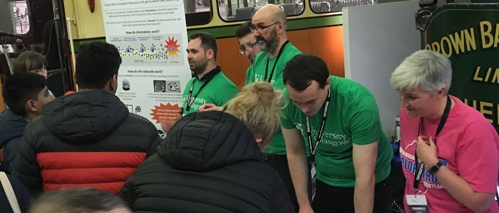 Chemokine Research Group researchers engaging with the public at their Explorathon 2019 stand