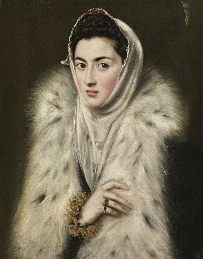 A photo of the painting Lady in a Fur Wrap. Photo Credit Glasgow Museums