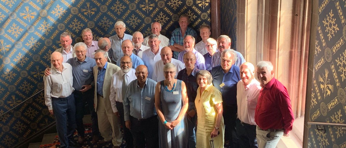 Group photo of the reunion of the class of 1974 class of Electrical Engineering