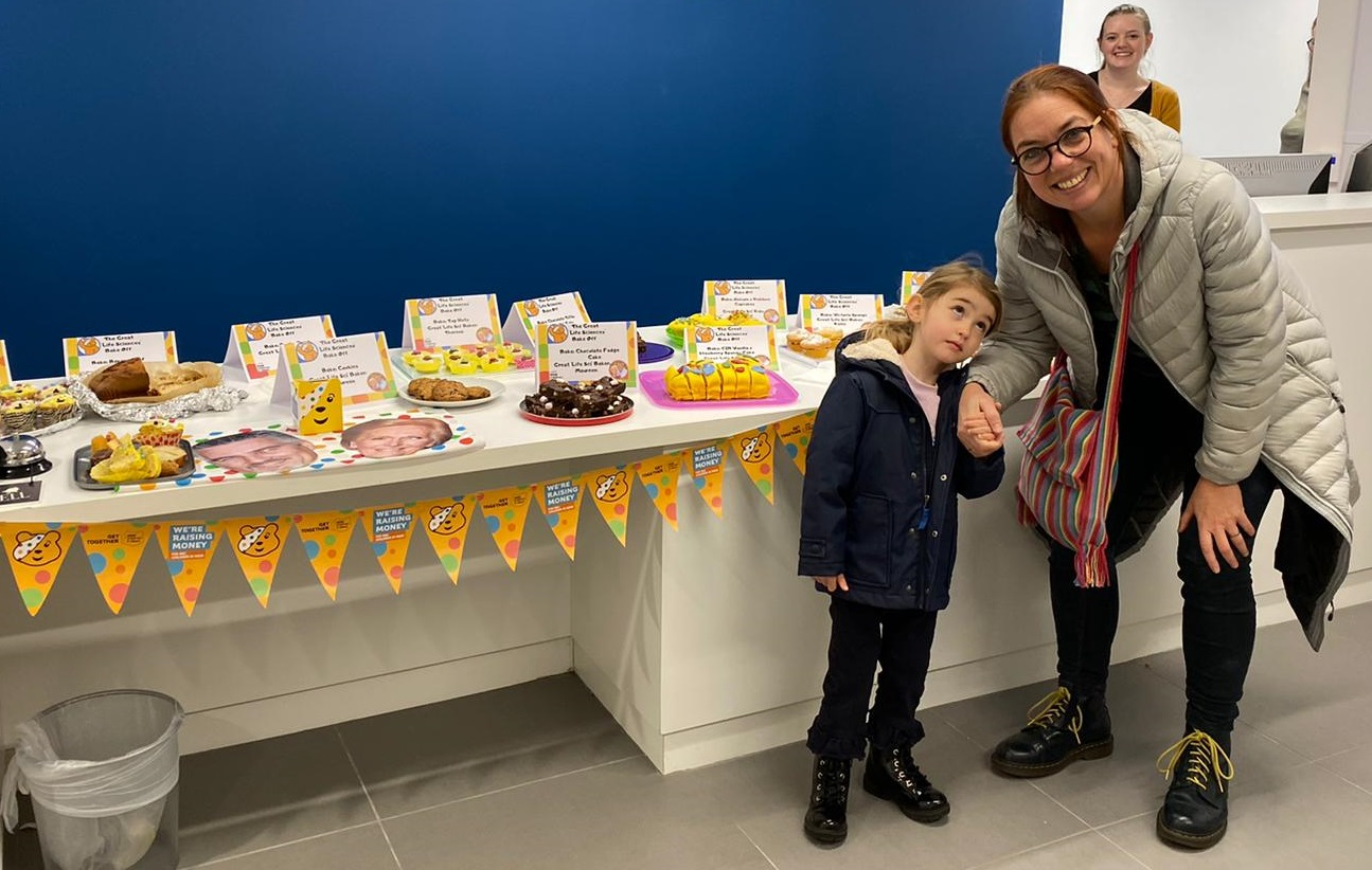 Olwyn Byron and child at 2019 Bake Off