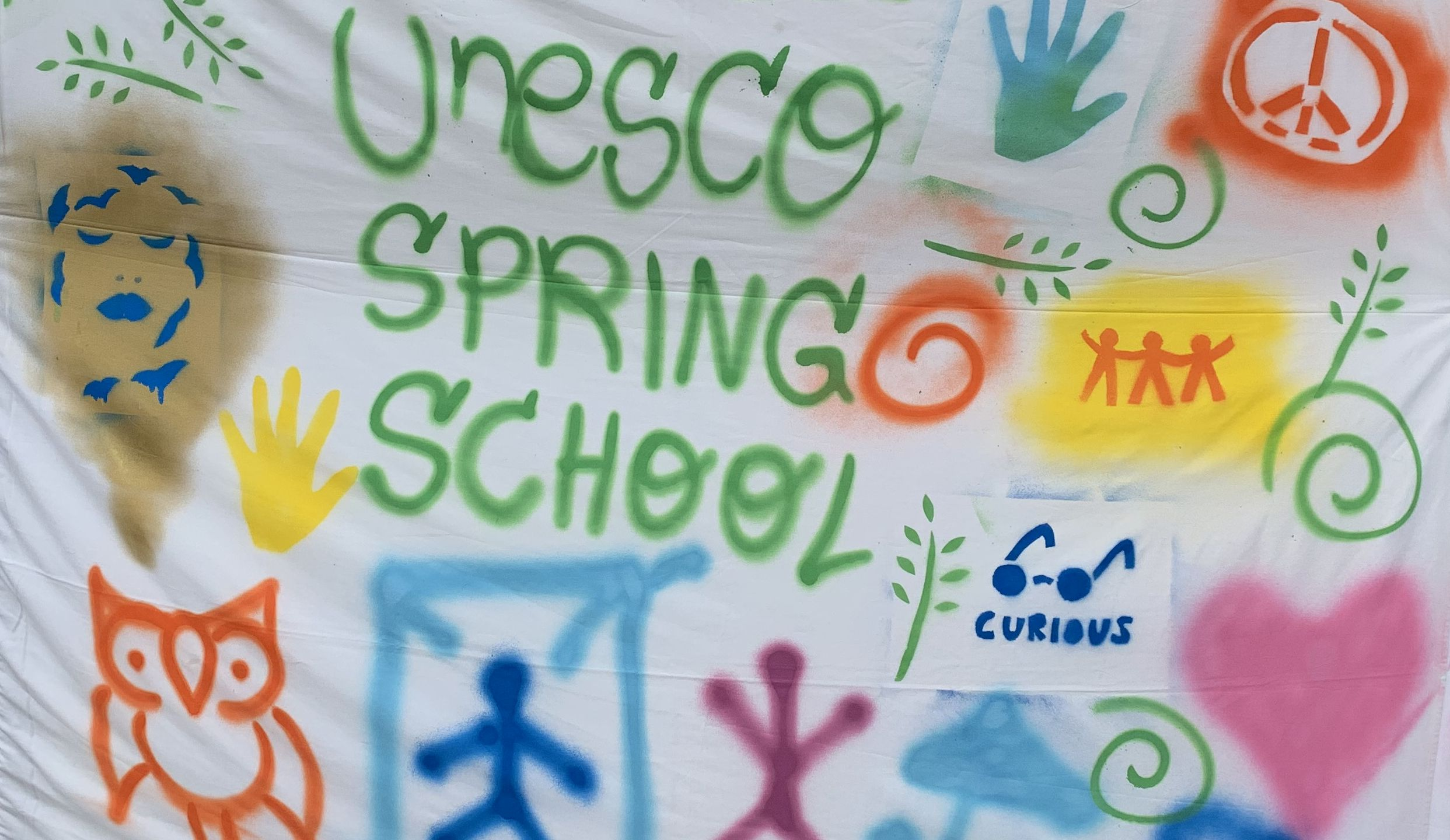 SprayPeace Banner from Spring School 2019