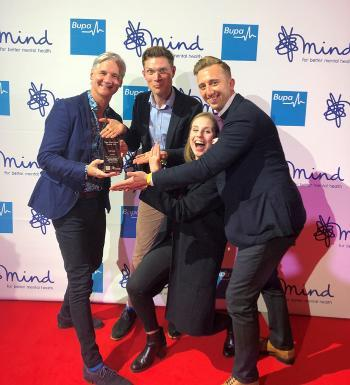 Rory O'Connor and colleagues at Mind Media Awards 2019