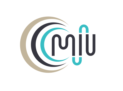The logo for the Centre for Medical and Industrial Ultrasonics. The C is like a series of sound waves.