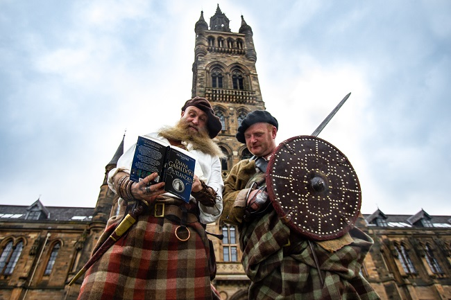 Left to right Charlie Allan and Scott McMaster of The Clanranald Trust for Scotland helped to launch the Outlander Conference 2020 announcement at the University of Glasgow