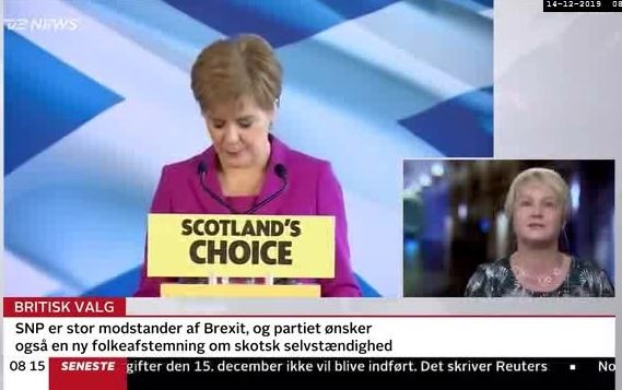 Dr Inge Ejbye Sørensen has analysed the UK election 2019 in the Danish 24 news channel
