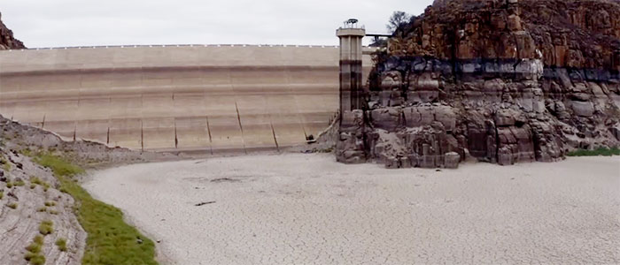 A dried up dam