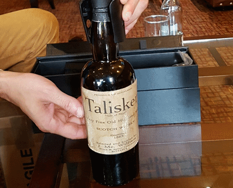 a bottle of whisky purported to be Talisker distilled in 1863