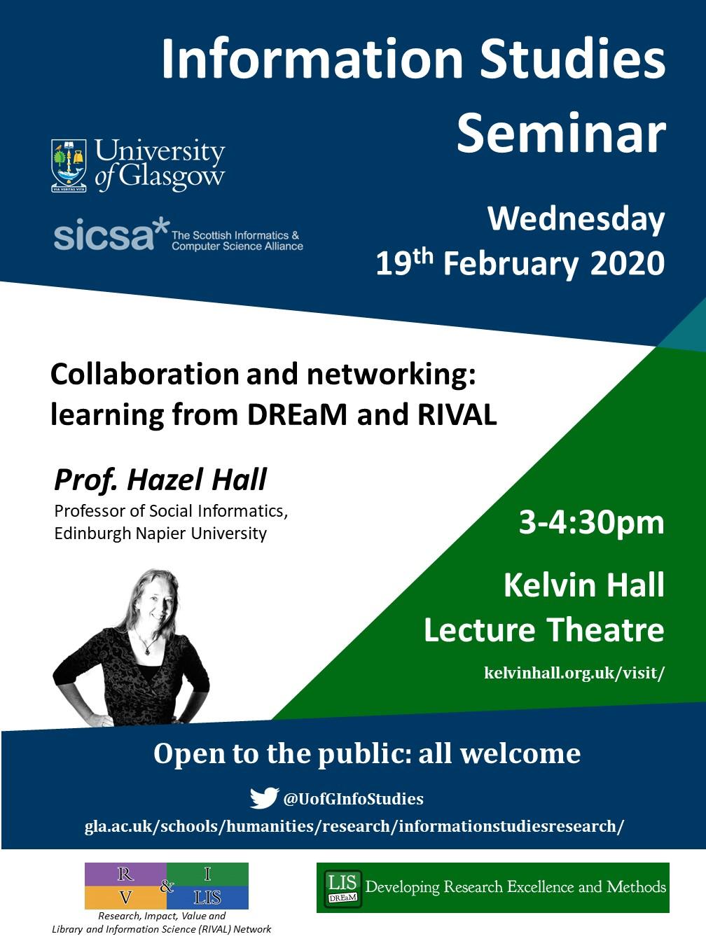 Prof. Hazel Hall - full poster