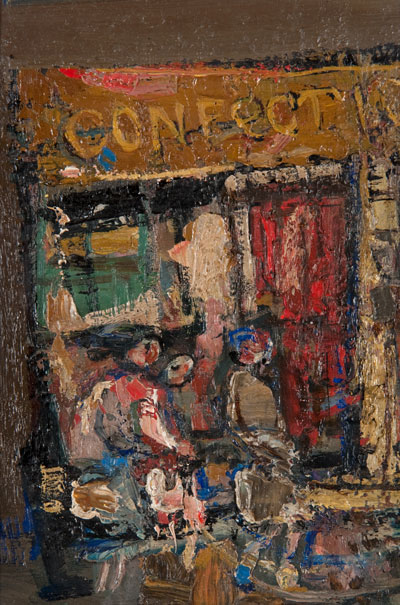 Joan Eardley, Sweet Shop, Rotten Row, 1960 - 1961