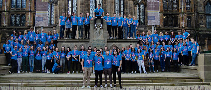 SRC outside the University of Glasgow main building