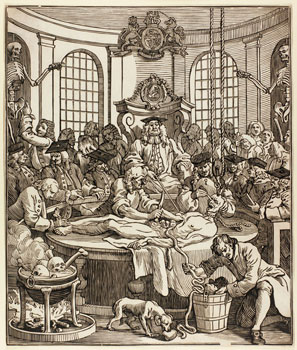 John Bell after William Hogarth, The Reward of Cruelty, Woodcut, 1750.