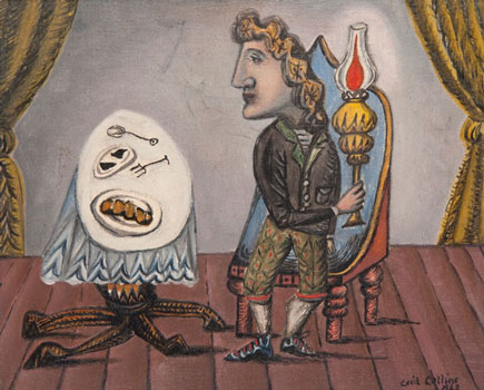 Cecil Collins, The Man with the Lamp, Oil on canvas, 1943.