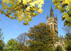 University from Kelvingrove Park