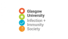 A logo for the Infection and Immunity Society with various science icons