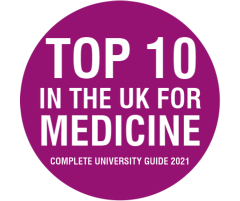 Number 1 in the UK for Medicine
