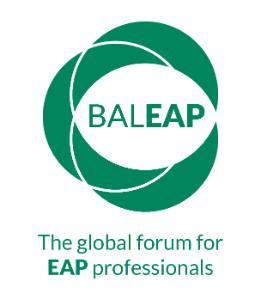 BALEAP LOGO The Global forum for EAP Professionals