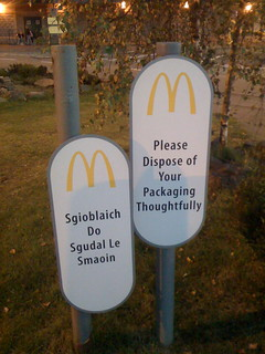 MacDonalds sign in English and Gaelic in Fort William