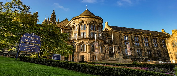 Image of the Gilbert Scott Building at the University of Glasgow