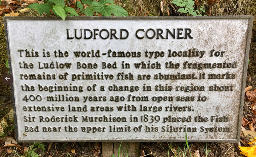 photo of signpost marking Ludford Corner.