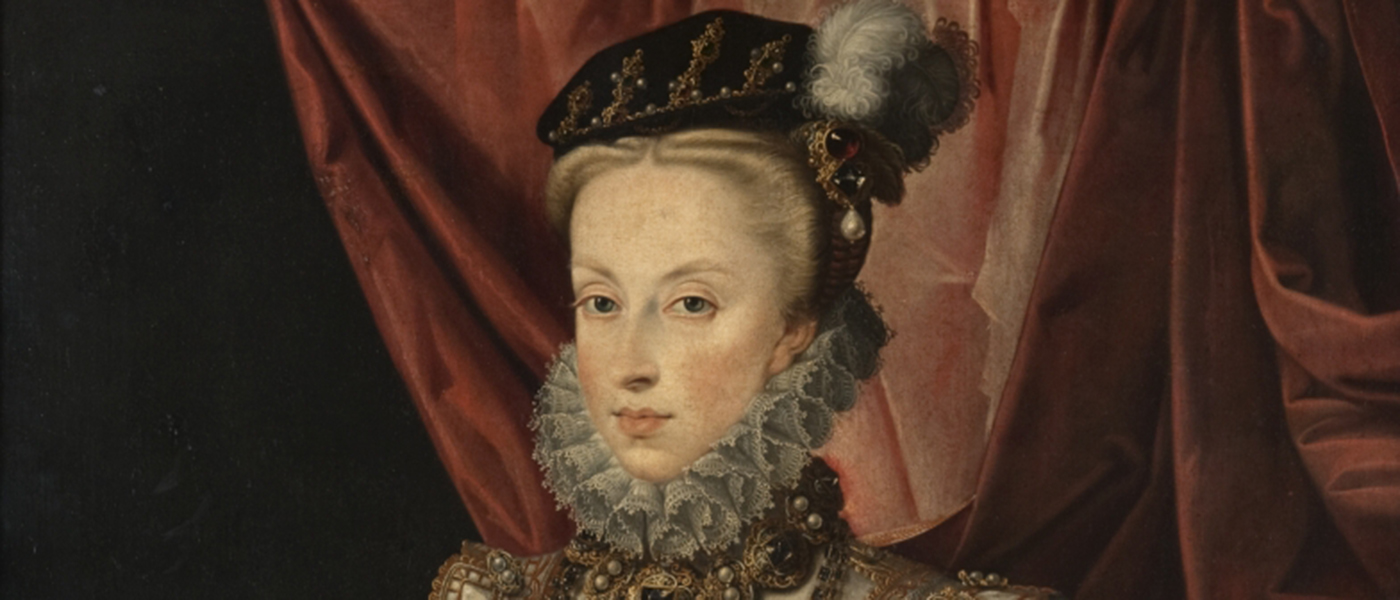 Portrait of a lady in a ruff and feathered hat
