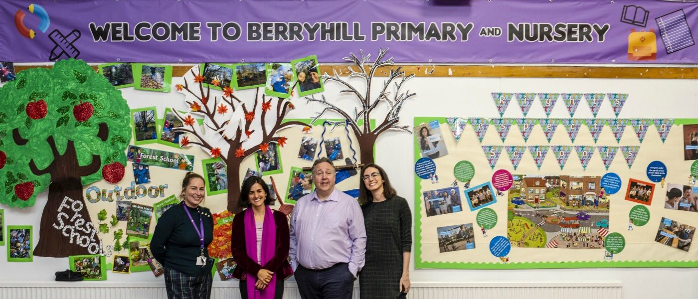 photograph of NSEE team at Berryhill primary school