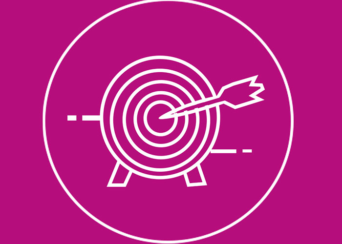 Graphic showing an arrow on a target