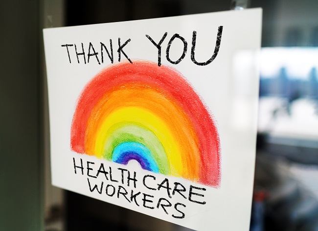 NHS Thank you sign 650