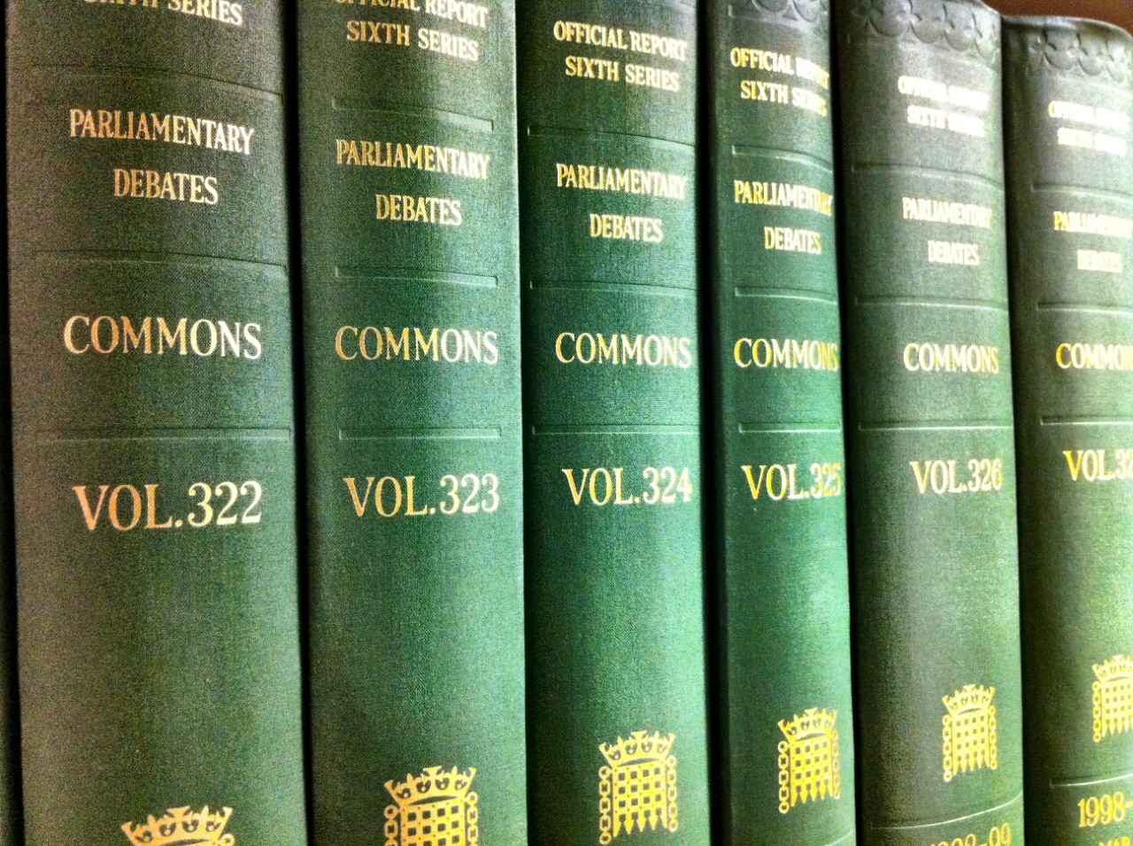 An image of Hansard volumes