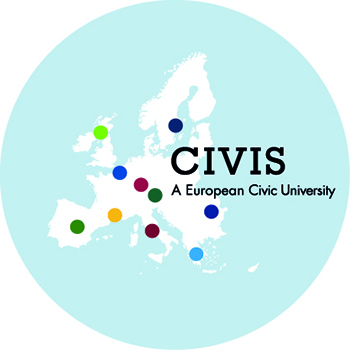 Map of Europe showing CIVIS partners