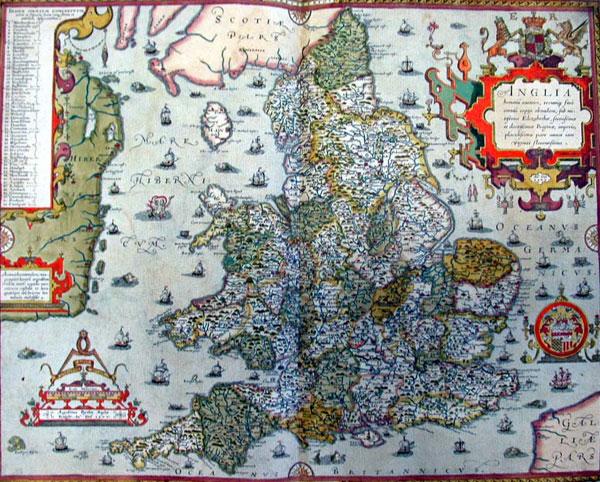 Old Tudor Saxton 1500/'s Map Westmorland Cumbria England 1576 Antique  Reprint