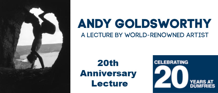Image for Celebrating 20 Years in Dumfries - Lecture by Andy Goldsworthy