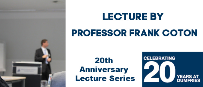 Image for Lecture by Professor Frank Coton