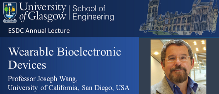 Image for ESDC Annual Lecture on Wearable Bioelectronic Devices by Prof. Joseph Wang